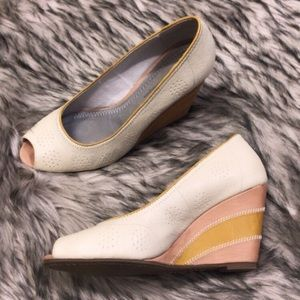 Pilcro Leather Colorblock Anthropologie Wedge Heel